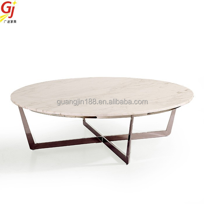 natural marble round centre coffee table RT-3002