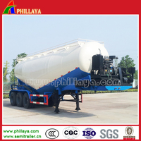 High qualtity 36 cbm self discharge pulverized coal trailer for sale