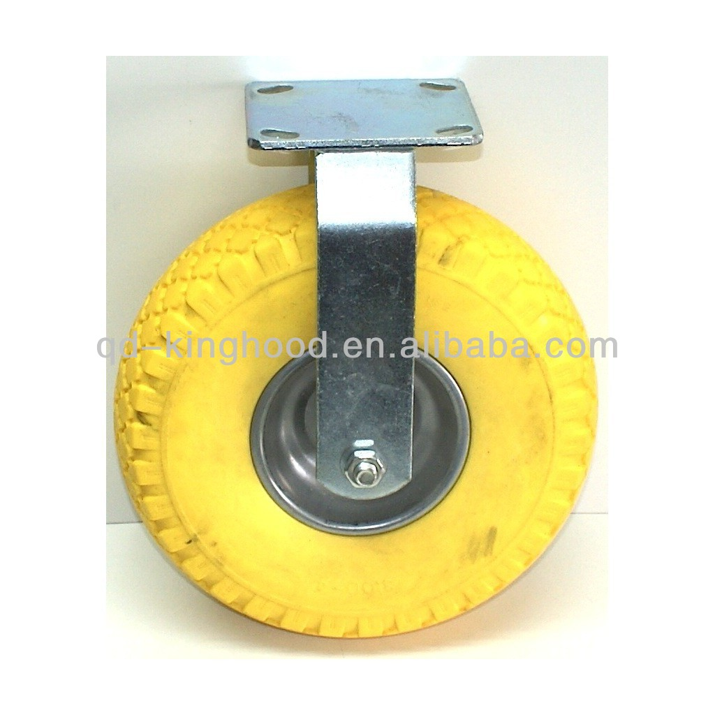 Fixed castor steel case with solid wheel 260 mm