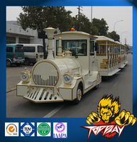 Electric & diesel trackless tourist train manufacturer