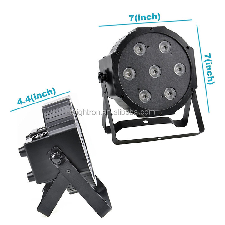 Ultra Bright LED Flat Par 7x10 Watt Quad RGBW Slim Par Light With Remote Control