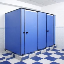 Compact public cubicle and partitive