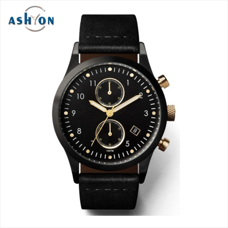 Black Men Logo Black Colour Wrist Watch Black Watch Band