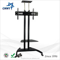 latest design rotating led lcd tv trolley model with bracket