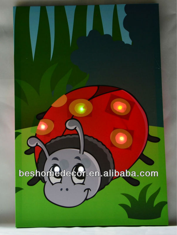 Lovely cute cartoon design item picture led picture light, led battery operated lights, oil paintings of children