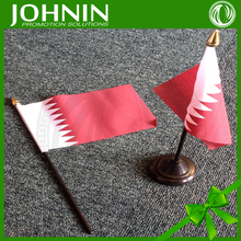 Fast shipping JOHNIN made Promotional National Day qatar hand flag