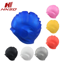 OEM pure color silicone hat custom ear protection swimming cap for adult