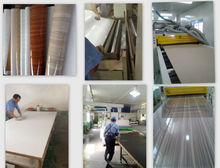non-woven pvc sheet covered Wood Decorative Panel ,High glossy pvc mdf
