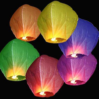 China Factory Colorful Paper 100 Biodegradable Sky Lantern No Fire
