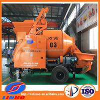 C3 Mobile concrete mixer pump with electric motor