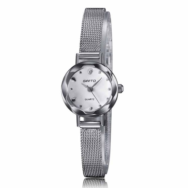 Stainless steel mesh band watches small size for ladies popular in Korea and Japan
