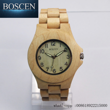 BOSCEN High Quality Wholesale Natural Wooden Bamboo Watches