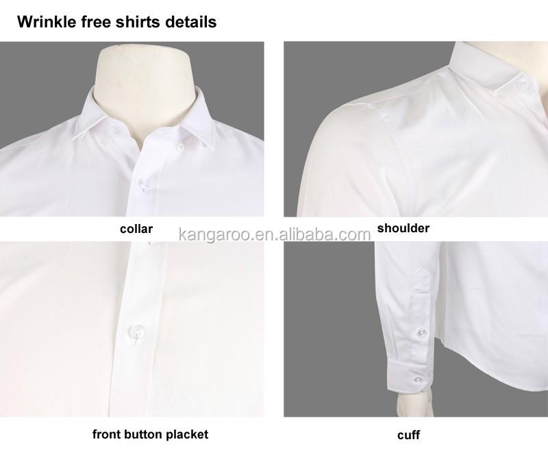 Non iron wrinkle free cotton dress shirt for business men for Non wrinkle dress shirts