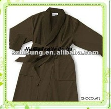 Shawl collar luxurious microfiber dressing gown