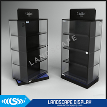 Custom made clear acrylic rotating watch display stand/plexiglass watch rotating display rack/acrylic watch display case