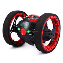 2.4G 6CH Mini RC Jumping Car High Speed 360 Degree Flipping Stunt Bounce Car With LED Lights For Kids