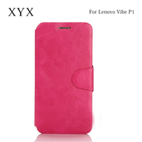 super slim leather material phone case for lenovo vibe p1, case cover for lenovo vibe p1