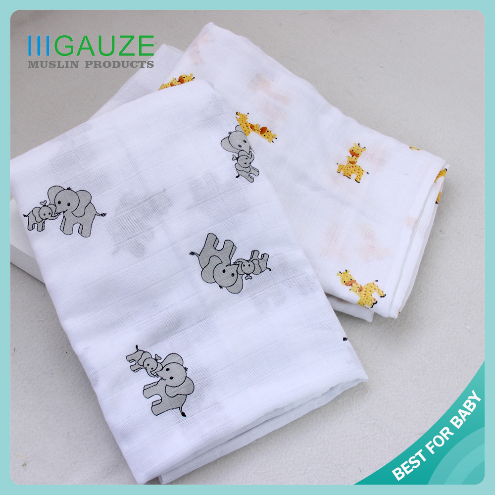 ORGANIC high quality versatile cotton Muslin Swaddle 47x47""