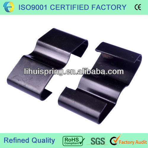 Small single galvanized parabolic leaf springs