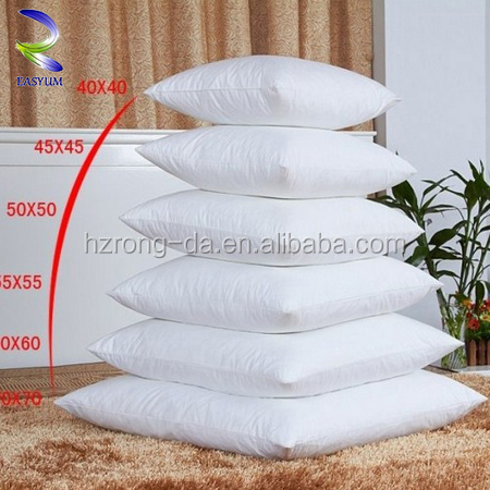 Wholesale factory price round body pillow duck feather down/microfiber cotton fiber cushion