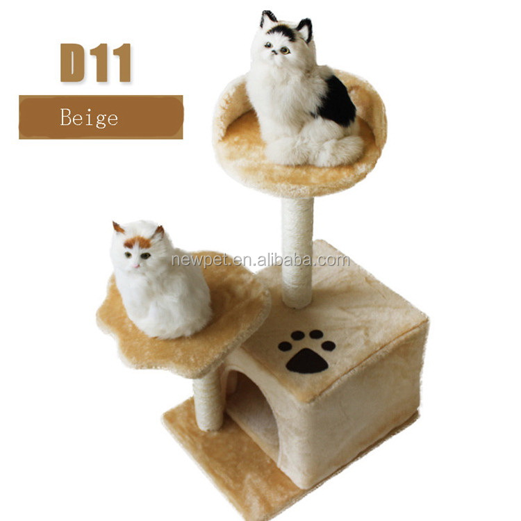 Wholesale retail newly design cat scratching tree cat toy rod with seat