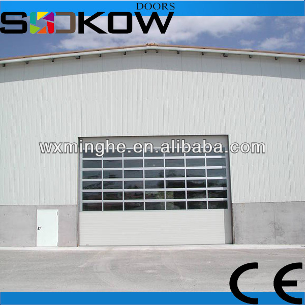 sectional warehouse door/industrial warehouse door/industrial glass doors