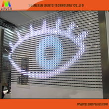 China Supplier Full Color SMD Transparent LED Curtain Display P3.91 Glass Wall Screen for Window advertising