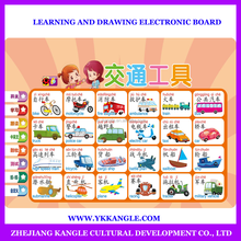 2015 New English toys wall chart for baby learning kinds of vehicles Multi function Rich content CE