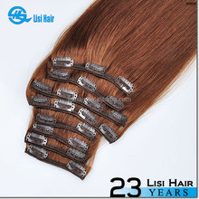 "Good Manufacturer Wholesale Price Top Quality Human Hair 34"" malaysian straight clip in"