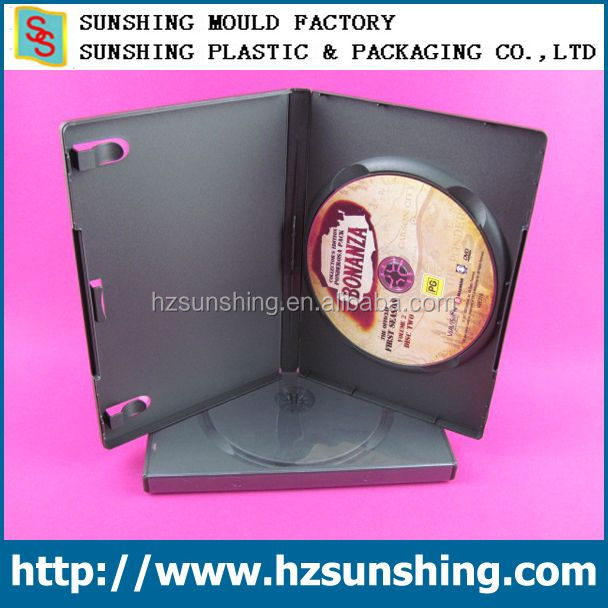 automate good quality black single disc 14MM DVD cases