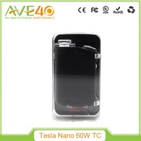 Authentic Tesla Nano TC 60W Box Mod Built-in 3600mah Battery Temp Control 510 Thread