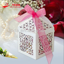Laser cut wedding favor gift box cake decoration