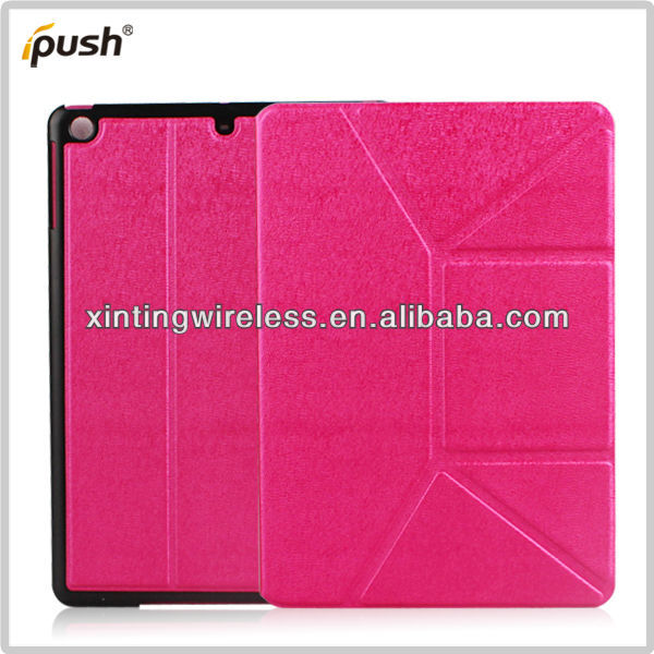 2013 Hot Sell PU Leather Stand Cover/Back Case For IPad Air