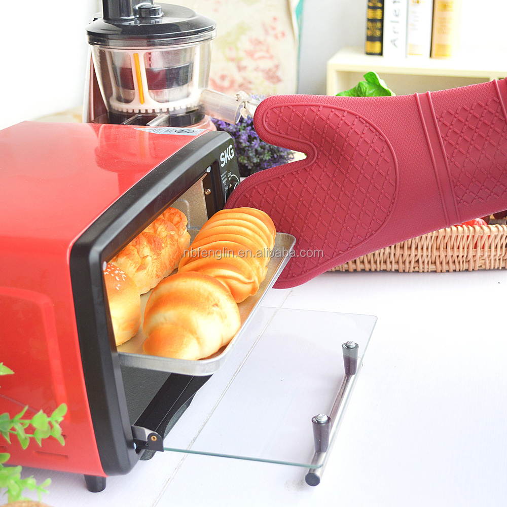 Top Selling Non-slip Cooking Glove Food Grade Silicone Microwave Oven Mitten