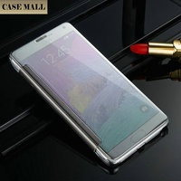 Wholesale for Samsung Galaxy Note 4 Case Accessories, Transparent Leather Flip Case for Samsung Note 4