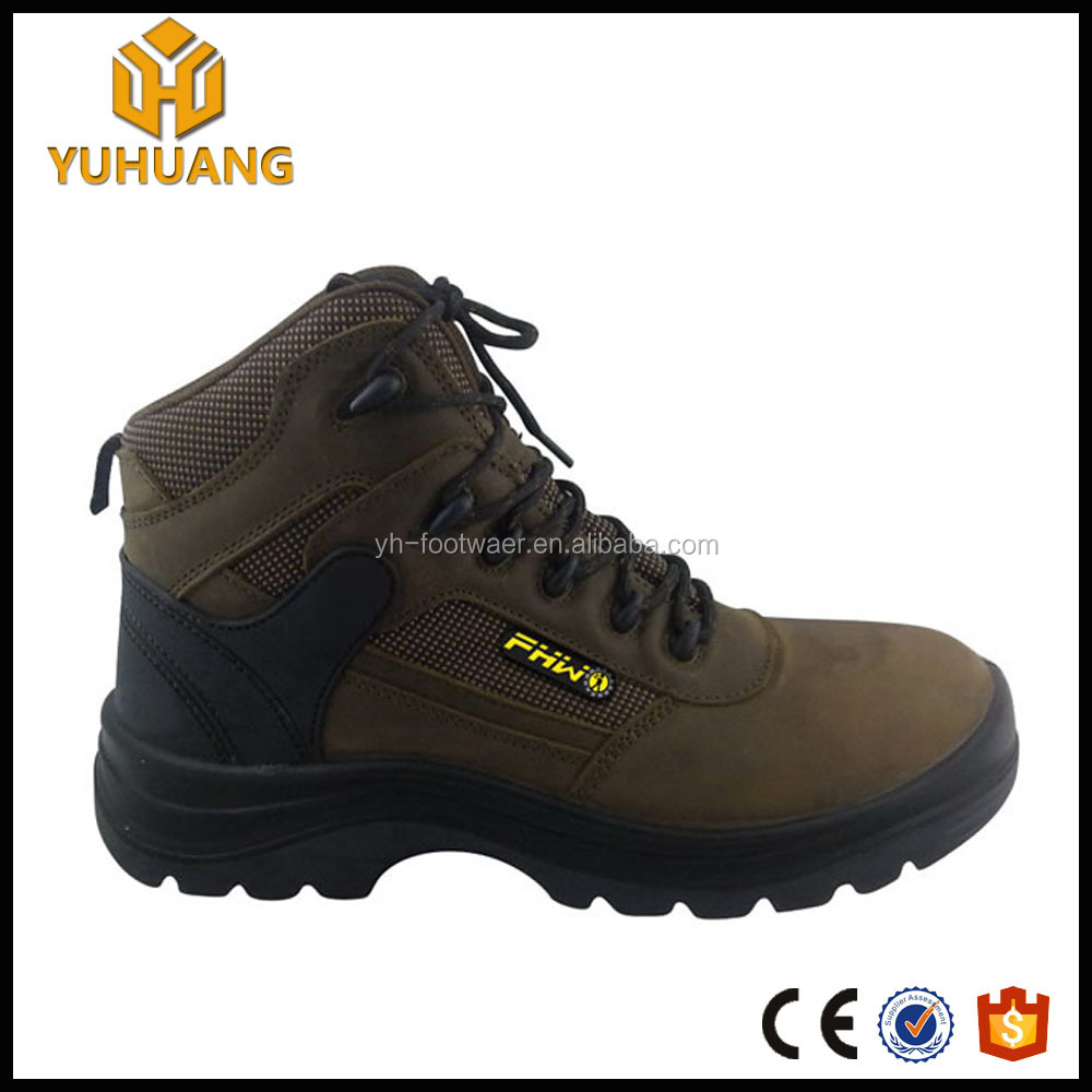 Ourdoor leisure leather safety boots with steel toe cap