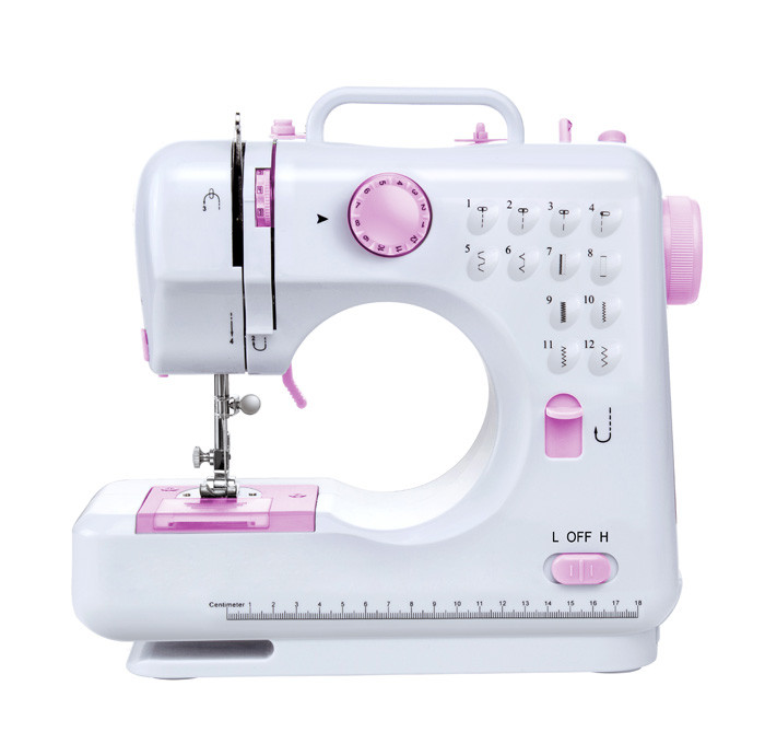 Mini fabric buttonhole electric sewing machine domestic FHSM-505 with 12 sewing patterns
