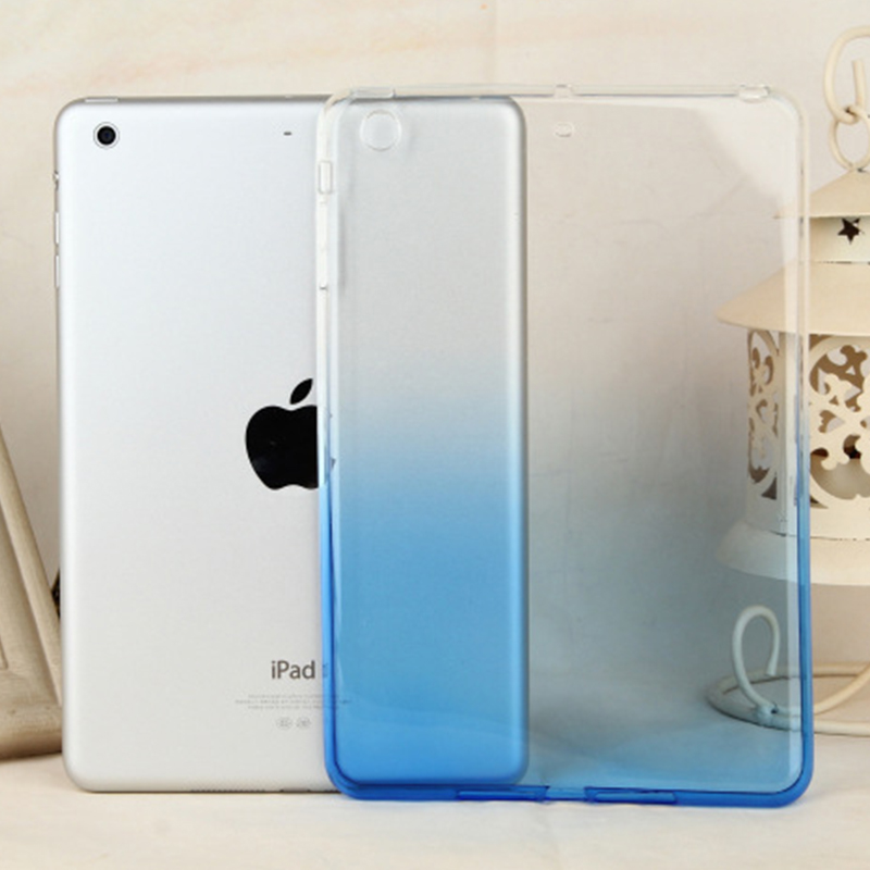 2018 new design tpu Gradient transparent tablet case for <strong>ipad</strong> pro 9.7