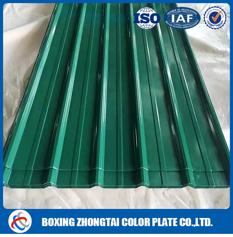 Hot dip steel roofing materials