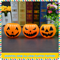 plastic halloween pumpkin buckets props party decorations pumpkin halloween pot candy pails