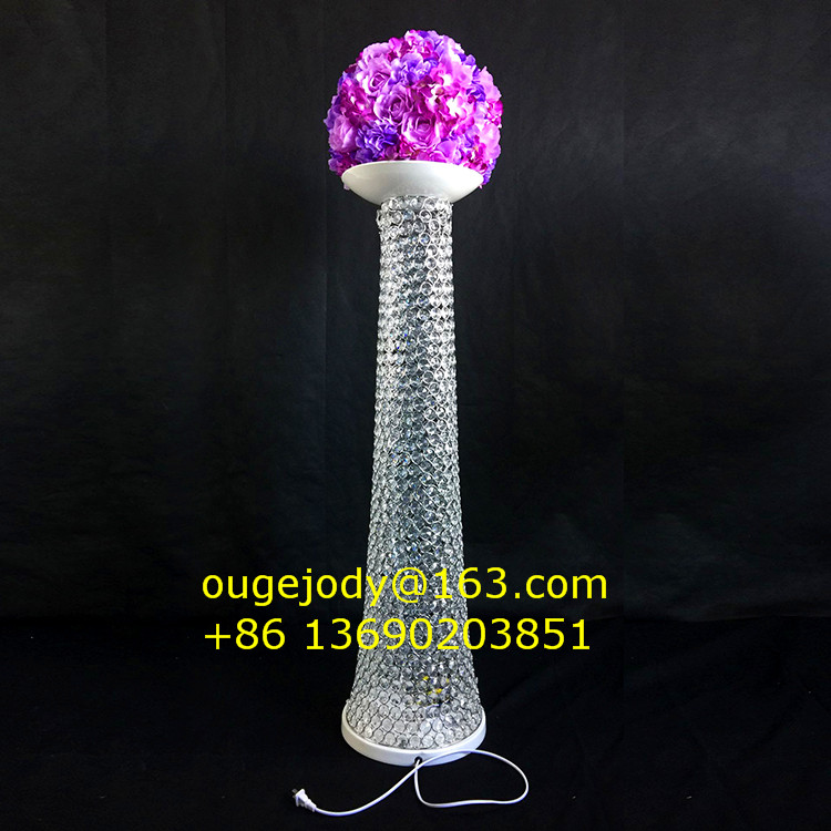 Lighting crystal stand ,wedding aisle pillar stand