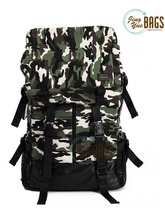 Canvas outdoor backpack man Travel bag Camouflage Camping school bag computer bag Army Green