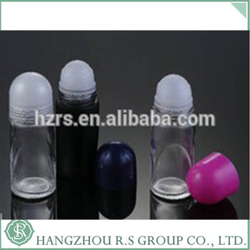 Roll on Refillable Glass/plastic Perfume Bottles Including Roller ball & Black Caps 50ml
