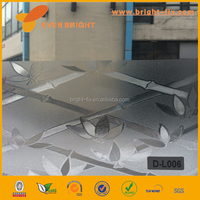 bamboo design window film,half transparent glass film,adhesive glass film,