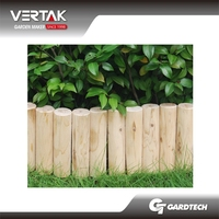 Cheap price popular wooden lawn edging fence