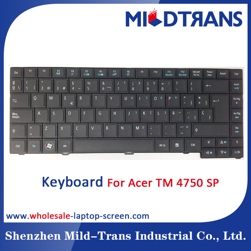Replacement laptop Internal keyboard for Acer TM 4750 SP language layout