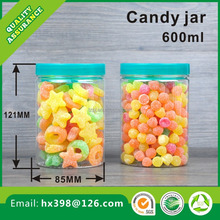 600ml pet Food Grade Transparent Plastic Food Jar Containers