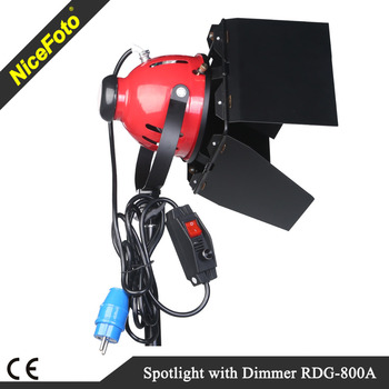 NiceFoto Continuous lighting Redhead light 800W with dimmer, spot light