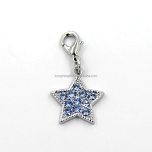 Hot Sale Fashionable Necklace Jewelry Shiny Blue Rhinestones Star Dangle Pendent