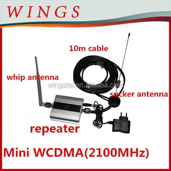LCD 30dbm gsm repeater GSM970 mobile signal booster coverage 1000m2
